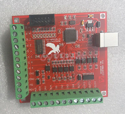 100Khz USB CNC MACH3 Breakout Board 4 Axis Interface Driver Motion Controller