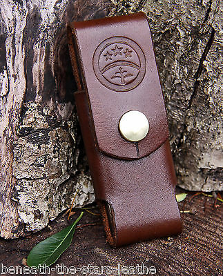 Handmade Leather Belt Pouch Fits Pen-Knife Or Dc4 Ceramic Whetstone And More!