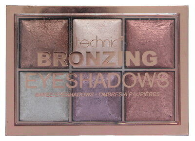 Technic Bronzing 6 Colour Baked Eyeshadow Palette 6x2g-Bronze