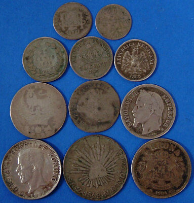 11 Piece Lot 44.6 Grams Silver Coin Lot Various Dates & Countries