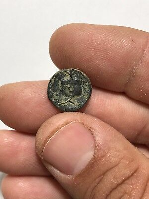Ancient  Greek Asia Pamphylia Pomegranate/athena 2.4 Gr 15 Mm