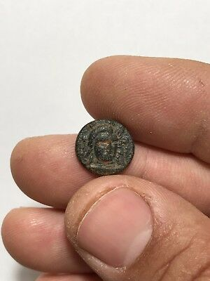 Ancient  Greek Caria Halicarnassus Apollo/eagle 420-380 1.9 Gr 14.5 Mm