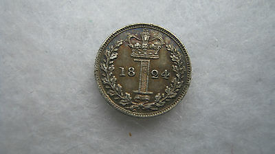 1824 George IV silver maundy penny High grade. (H127)