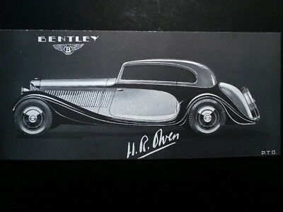 Old Ink Blotter Promotes 1930s Rolls-Royce Mertzanoff All Weather Bentley
