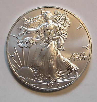 2012 Silver American Eagle -- Brilliant,  Gem Bu Un-Circulated