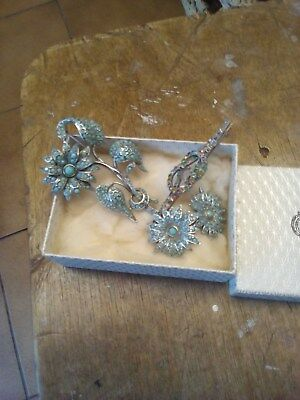 Beautiful Vintage .925 STERLING SILVER Leaf Themed Guilloche Brooch BOXED