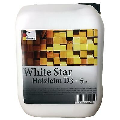 White Star Holzleim D3 5 kg Kanister Weißleim -DIN EN 204- Made in Germany Leim