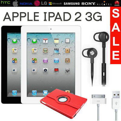 Apple iPad 2nd Gen 32GB 9.7in WiFi, Cellular 3G /4G Black / White UNLOCKED