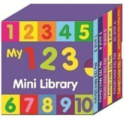 6 x PRESCHOOL MY 123 MINI LIBRARY BOARD BOOKS LEARN THE NUMBERS COUNTING 2640123