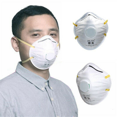 1pc 8210V Valve PM2.5 Dust Particle Respirator Mask N95 Respiratory Protect