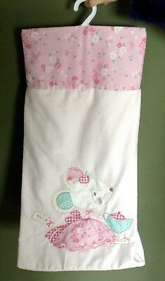 Next Nappy Stacker Molly & Mia Mouse Pink Nursery Accesories for Baby Girl