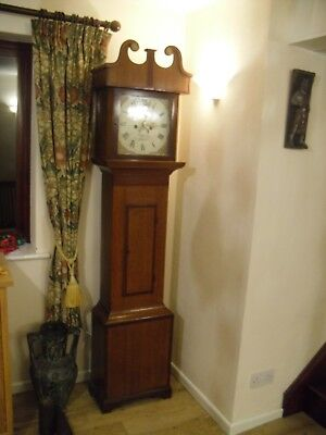 Antique Cottage Grandfather Clock, Eight Day Movement.