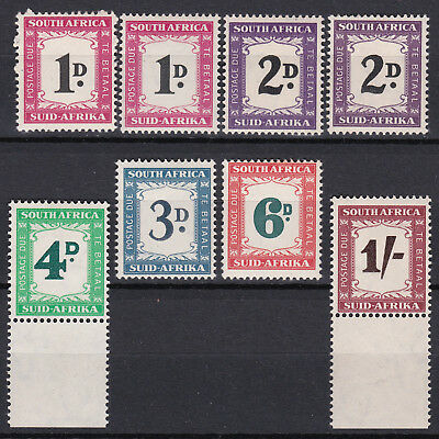 South Africa 1950-58 Postage Due Set. Mint.