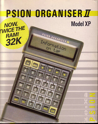 Psion Organiser II XP. With Mains Adaptor & Harvester Superchip. All boxed & VGC