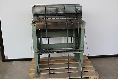 F.J.Edwards Guillotine 2/14TG Width of Cut is 25 inches Sheet Metal Cutting