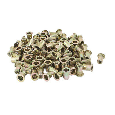 100Pcs Zinc Plated Carbon Steel Rivet Nut Rivnut Insert Nutsert 1/4-20 P9Z5