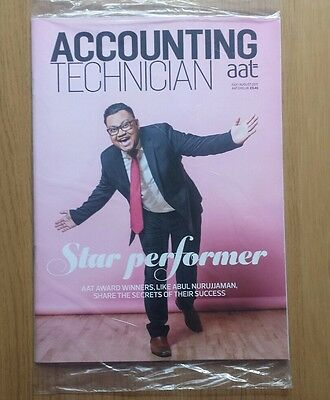 New Accounting Technician AAT Magazine. July August 2017. Sealed. Accountancy
