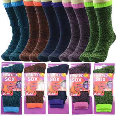 Lot 1-12 Pairs Women Sox Outdoor Extreme Weather Thermal Heated Crew Boots Socks