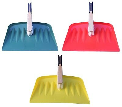 HEAVY DUTY Jumbo Large Dustpan and Brush Hand Industrial Dust Pan Snow Shovel