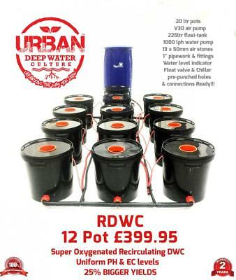 Urban RDWC 20L Hydroponics 12 Pot 3Lane System Flexi Tank Not Alien IWS RUSH DWC