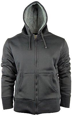 Men's Zip Up Hoodie/Hooded Jacket With Fleece Lining   Soft & Warm Sherpa Lined