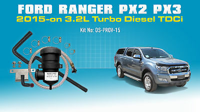 ProVent Oil Catch Can Kit for Ford Ranger PX2 2015-on 3.2L 5Cyl TDCi P4AT