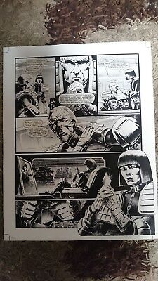 ORIGINAL ARTWORK  FOR DREDD MEG # 40 Page 15 THE HARLEQUIN'S DANCE EPISODE4 pg3