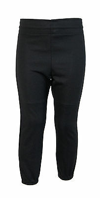 Power Bolt Baseball Pants Trousers (Black) - Youth XS (5-6 Years)