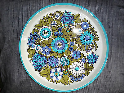 Round Metal Serving Tray - Circa 70's style - 13 x Inches Wide - Epsom KT19