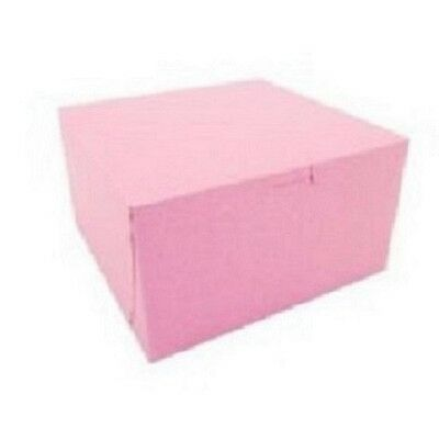 25 count PINK 14x14x5 Bakery or Cake Box