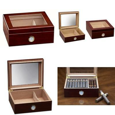 Prestige Import Group - The Chalet Glass Top Cigar Humidor - Capacity: 20-50 - C
