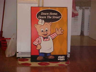 "24"" x 36"" Piggly Wiggly Grocery Store Cardboard Advertising Sign 1970s"