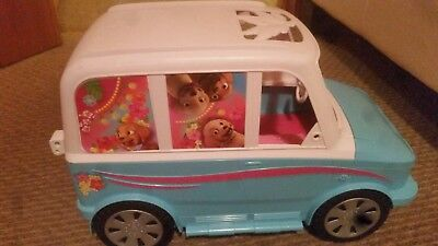 Barbie Camper Van, Puppy Mobile, with Accessories, Excellent Condition