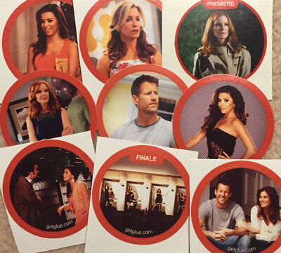 Desperate Housewives Stickers (9 Stück) Gabrielle, Linette, Bree, Mike