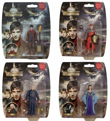 """Full Set of 7 Blisters BBC TV SERIES ADVENTURES OF MERLIN 3.75/"""" ACTION FIGURE"""