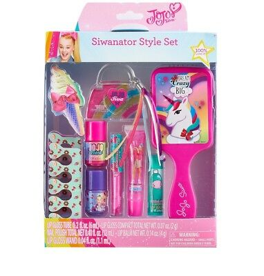 Jojo Siwa Siwanator Style Set Brush Nail Varnish Lip Gloss Nail File