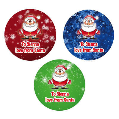 48 x Personalised Christmas Stickers Santa Father Christmas Present Labels - 929