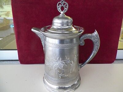 "Vntg 12 1/2"" Tall Us Silverplate Co Decorative Tankard"