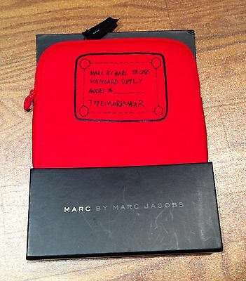 NIB Marc by Marc Jacobs neoprene tablet sleeve zipper case netbook iPad