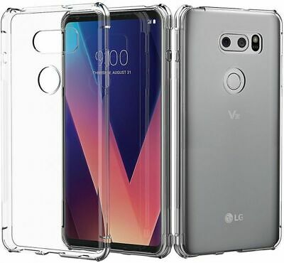 Ultra Thin Soft TPU Silicone Jelly Bumper Back Cover Case for LG V30