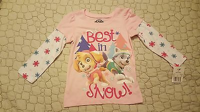 Nick Jr Paw Patrol Pink Long Sleeve - Best in Snow - Size 2T 3T or 4T NWT