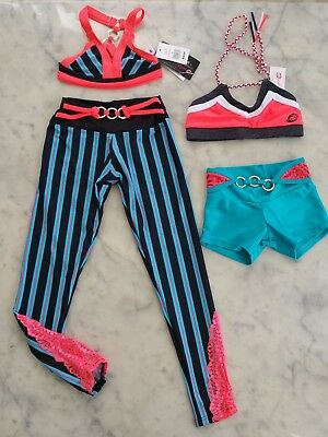 NWT California Kisses dance wear 4 piece girl child's size XS/ S