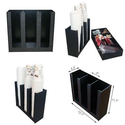 Disposable Coffee Cup Holder Commercial Dispenser Organizer Stacking Storage
