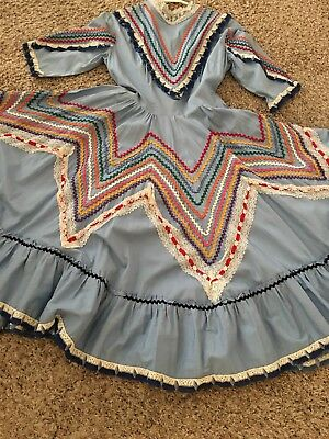 Hand Sewn Mexican Ballet Folklorico Jalisco Dress -Women's S or Girl's L