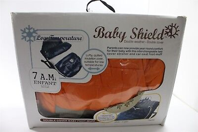 7AM Enfant Baby Shield Extendable Baby Bunting Bag, Orange Peel, LARGE