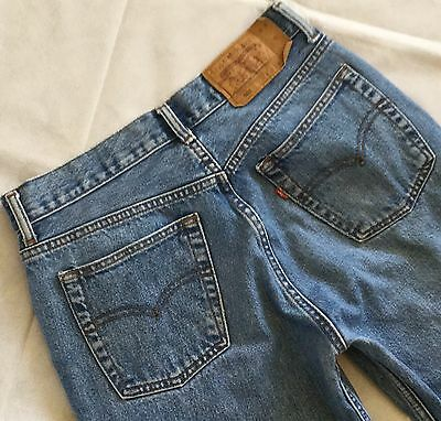Levi's 501 ultimate denim high waisted boyfriend mom jeans made in USA W32 L30