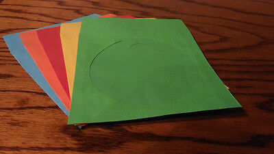 300 Assorted Color Paper Sleeve FLAP CLEAR WINDOW for CD DVD (80G)