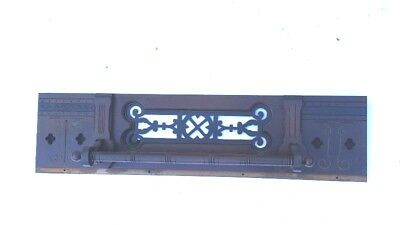 Vintage Hesder Pediment Fretwork Mantel Mantle Entryway Fireplace
