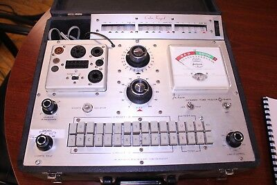 JACKSON 648S TUBE TESTER SHOWN TESTING TUBES, w/ Flip Over Tube Section!!