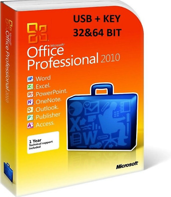 Genuine Microsoft Office 2010 Professional Plus Product Link and Key 32/64Bit